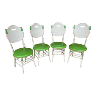 1930's Shabby Chic Chairs - Set of 4 For Sale