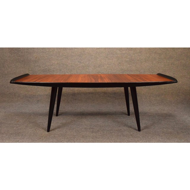 Gold 1960s Danish Modern Rosewood Coffee Table For Sale - Image 8 of 9