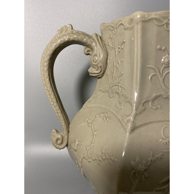 Mid 19th Century Antique Irwin and Lane Chinoiserie Bas-Relief Mason's Ironstone Pitcher For Sale - Image 5 of 7