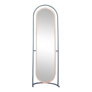 """""""Pill"""" Brass Tilting Floor Mirror For Sale"""