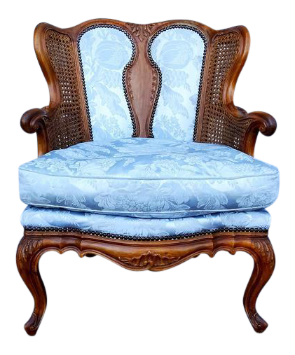 Antique french louis xvi style rococo fauteuil chair image 1 of 11