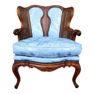 Antique French Louis XVI Style Rococo Fauteuil Chair For Sale