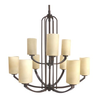 Iron & Glass 9-Arm Chandelier