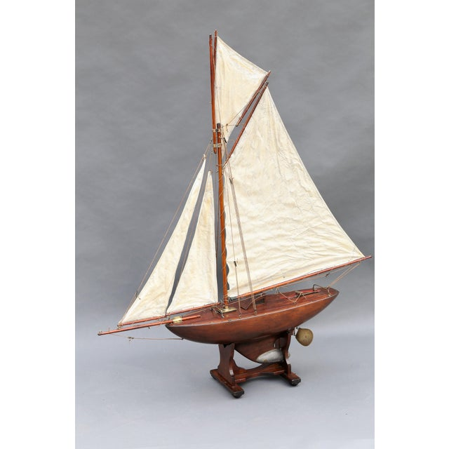 Large Antique English Pond Yacht - Image 9 of 10