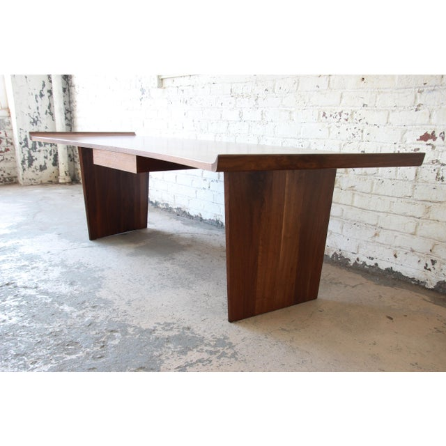 Mid 20th Century Excellent Curved Top Walnut Harvey Probber Executive Desk For Sale - Image 5 of 14