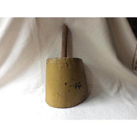 Late 19th Century Antique French Farmhouse Style Toleware Grain Scoop For Sale - Image 5 of 9