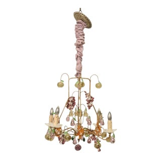 Vintage used purple chandeliers chairish french crystal fruit chandelier aloadofball Choice Image