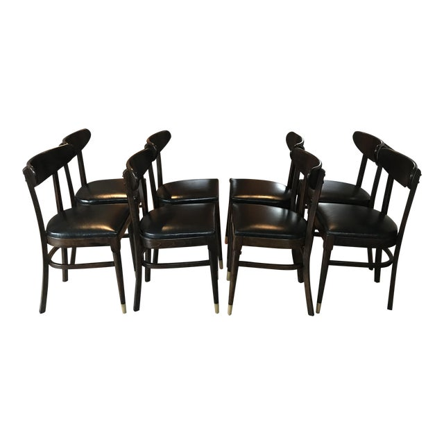 Vintage Mid-Century Modern Dining Chairs - Set of 8 - Image 1 of 9