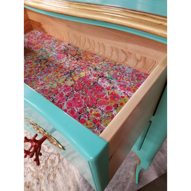 2010s Italian Solid Cherry Chest of Drawers / Console For Sale - Image 5 of 10