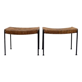 Arthur Uminoff Iron Benches - a Pair