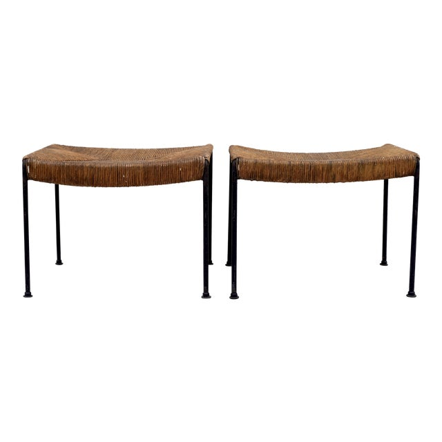 Arthur Uminoff Iron Benches - a Pair - Image 1 of 11