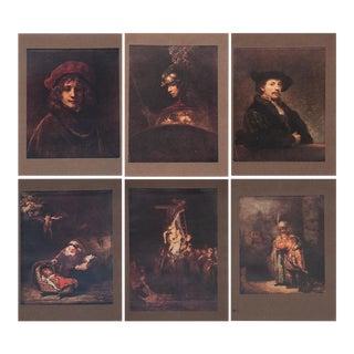 1905 Original Rembrandt Lithographs by Mortimer Menpes- Set of 6 For Sale