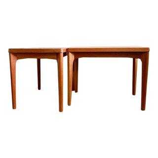 Vejle Stole by Kobelfabrik Teak Side Tables - a Pair For Sale