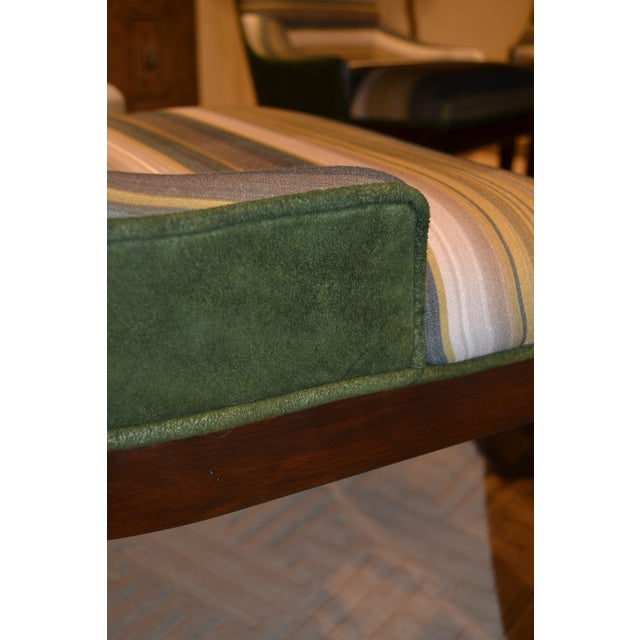 Our Addison Club Chairs have a gorgeous application of CR Laine fabric: Myknos Basil on the inback & seat and Moore &...