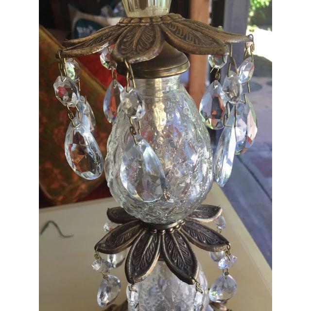 Vintage Hollywood Regency Bronze & Glass Table Lamp - Image 6 of 6