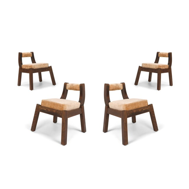 Italian Walnut Dining Chairs - 1950s For Sale - Image 10 of 10