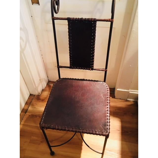 Antique dining chairs bought used from person who had them made in Spain. Very solid, well made and comfortable;...