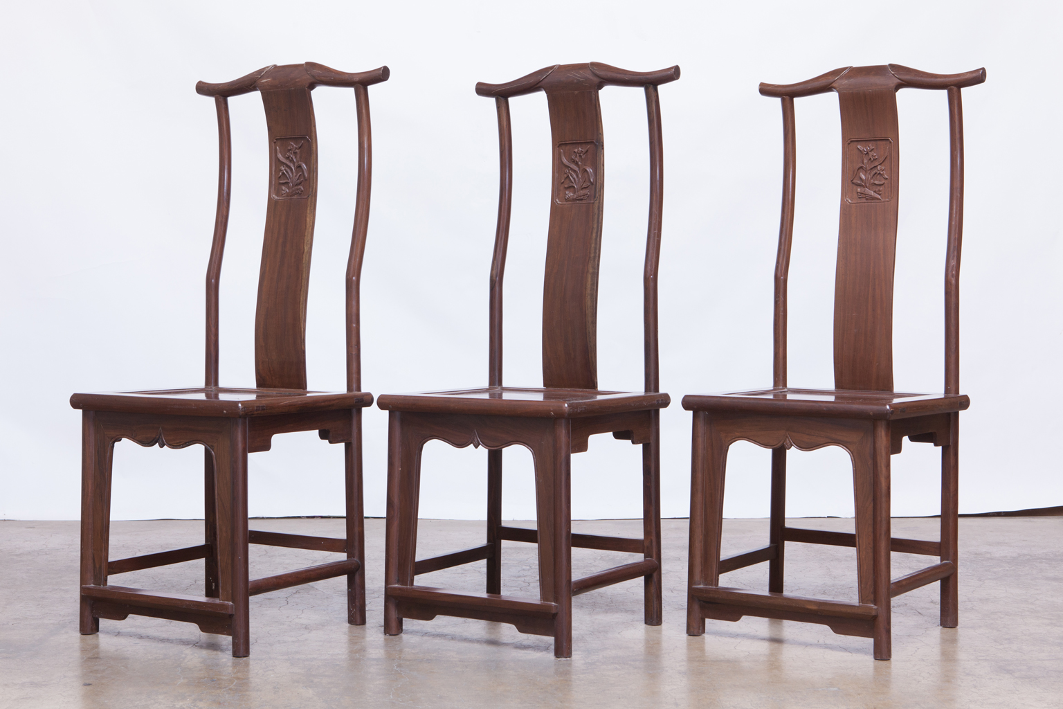 Chinese Yoke Back Officials Hat Chairs   Set Of 6   Image 2 Of 6