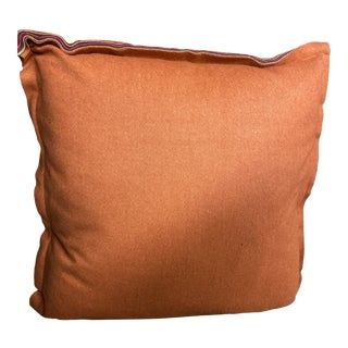 Boho Chic Mitchell Gold Orange Felt Pillow For Sale