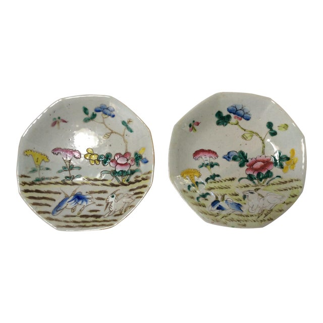 C. 1800's Chinese Decorative Plates - A Pair - Image 1 of 8