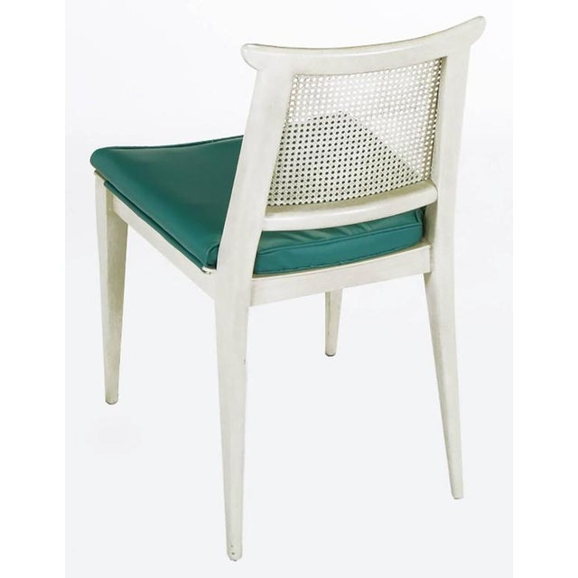 Mid-Century Modern Edward Wormley Bleached and Glazed Mahogany Side Chair For Sale - Image 3 of 8