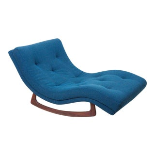 Signed Adrian Pearsall Rocking Chaise in Kvadrat Fabric For Sale