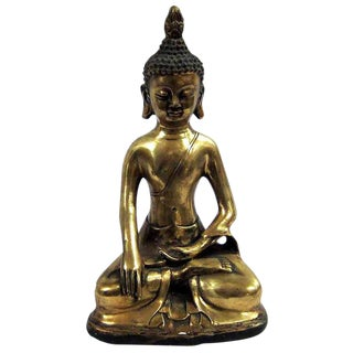Brass Sitting Buddha Figure