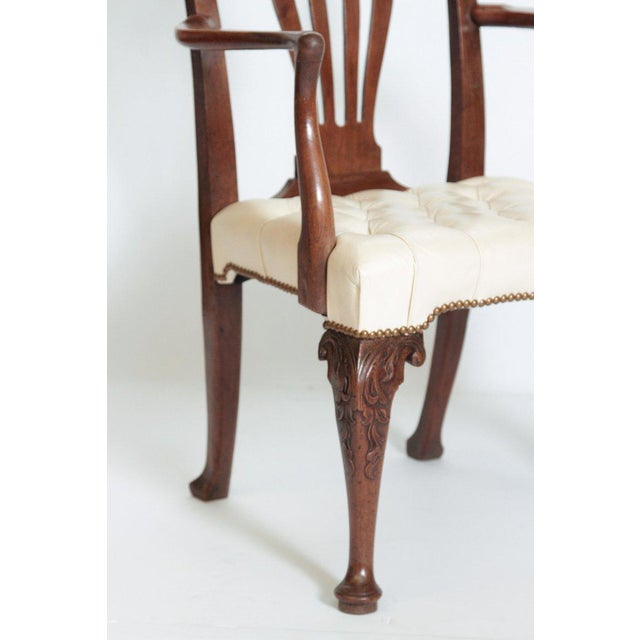 18th Century 18th Century Chippendale Mahogany Armchair For Sale - Image 5 of 12