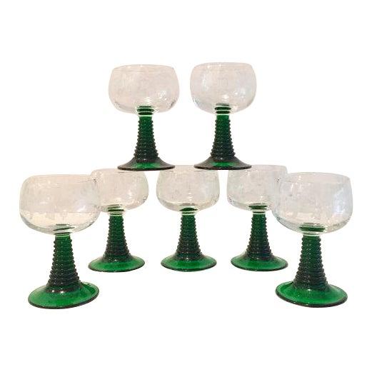 Crystal Roemer Rhine Wine Glasses - Set of 7 - Image 1 of 6