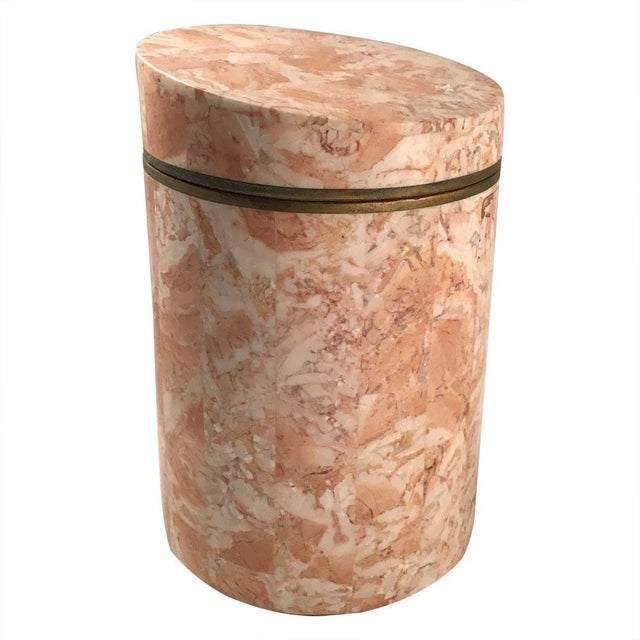 Vintage 1970s Maitland-Smith Stone Canister - Image 4 of 7