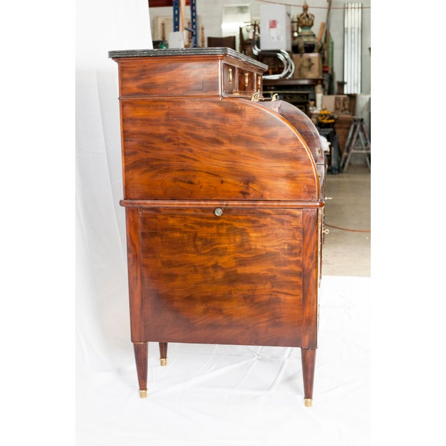 19th Century Louis XVI Cylinder Bureau For Sale - Image 9 of 13