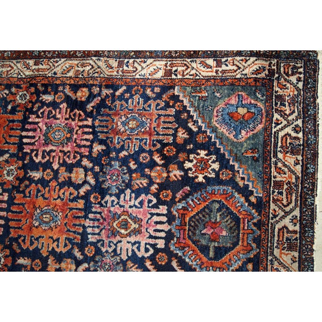 1910s, Handmade Antique Persian Malayer Rug 4.1' X 6.3' For Sale In New York - Image 6 of 11