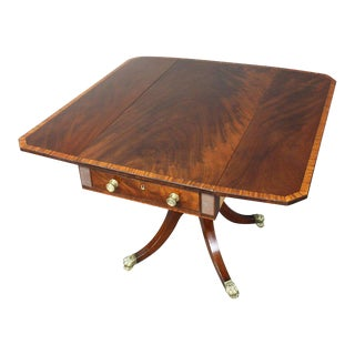 Regency Mahogany Pembroke Table For Sale