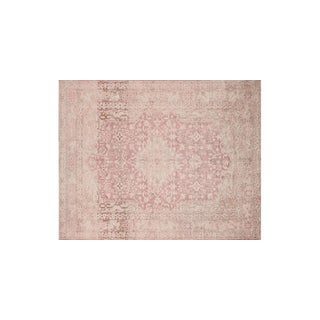 "Loloi Rugs Modern Pink Rug - 7'6"" x 9'6"" For Sale"