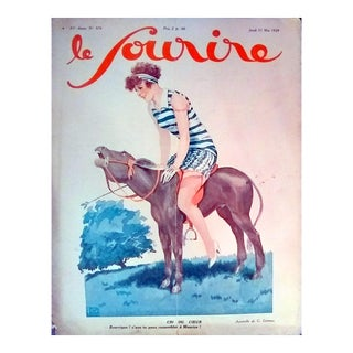 """G. Leonnec 1928 """"Cri Du Coeur"""" Le Sourire Print"""