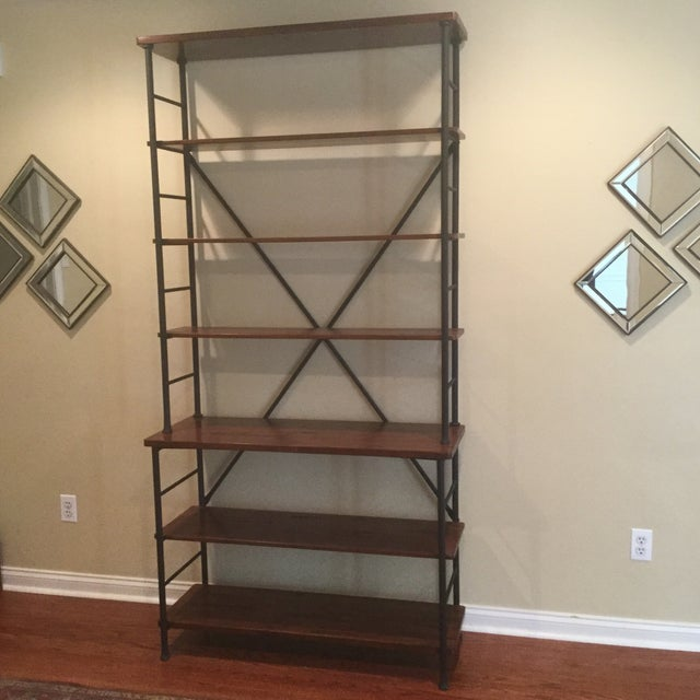 Industrial Metal & Wood Sonoma Bookcase - Image 2 of 4