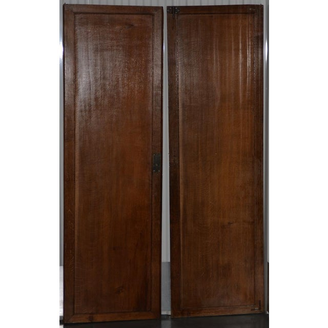 18th to 19th Century Chinese Hand Painted Door Panels - a Pair For Sale - Image 10 of 12
