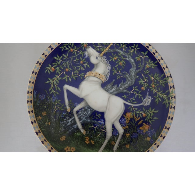 Ceramic Hutschenreuther Fine German China Wall Plate For Sale - Image 7 of 7