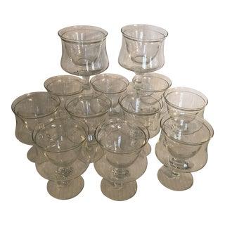 Vintage Tiffany Caviar/ Shrimp Holiday Cocktail Crystal Bowls - Set of 12 For Sale