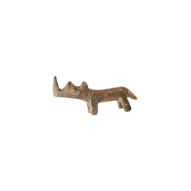 Vintage African Mini Tinted Bronze Rhino For Sale