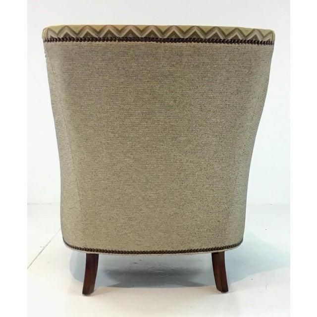 Modern Drexel Heritage Green and Brown Merris Chair For Sale In Atlanta - Image 6 of 7