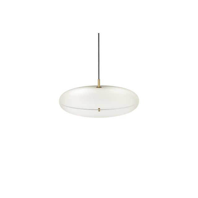 Mid-Century Modern Gio Ponti Luna Suspension Lamp in Nickel For Sale - Image 3 of 5