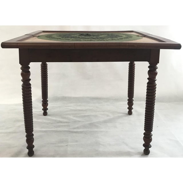 19th Century French Provincial Walnut Game Table or Console For Sale - Image 4 of 10