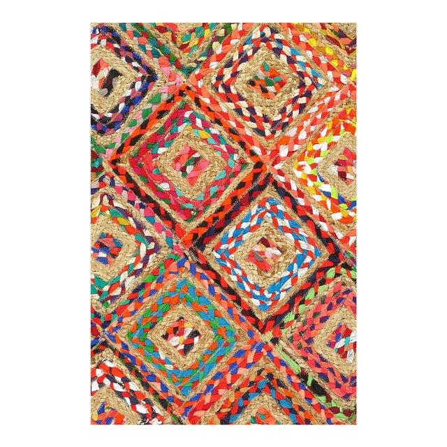 Modern Pasargad Handmade Braided Cotton & Organic Jute Rug - 5' X 8' For Sale - Image 3 of 4