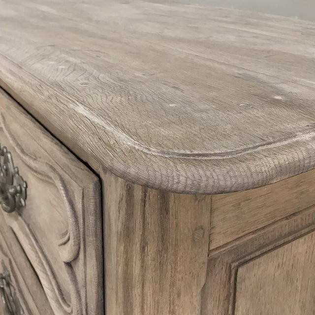 18th Century Country French Stripped Oak Provincial Commode For Sale - Image 11 of 13