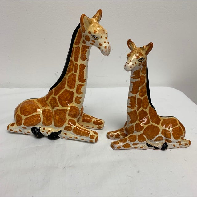 Italian Terra-Cotta Giraffe Figurines - a Pair For Sale In Richmond - Image 6 of 6