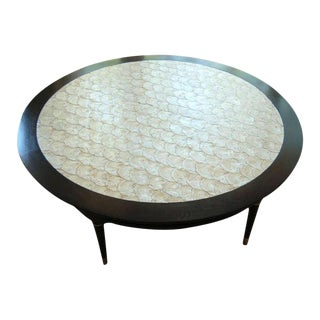 Capiz Shell Coffee/Game Table 1964 For Sale