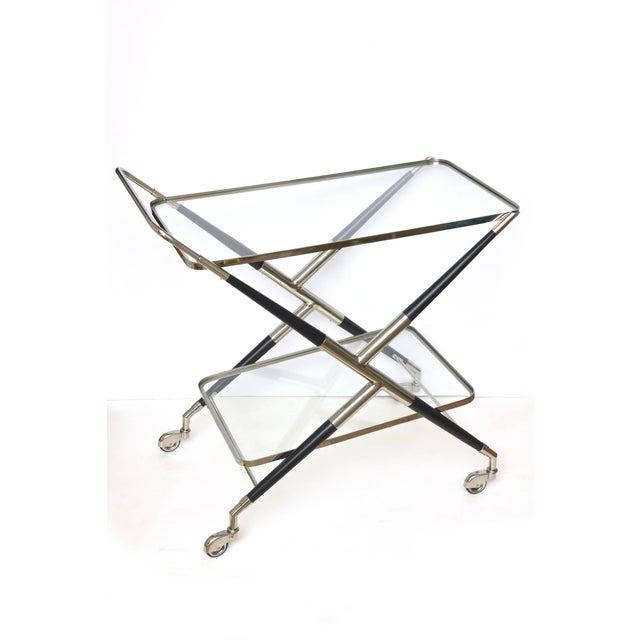 Italian Cesare Lacca Midcentury Bar Cart For Sale In Miami - Image 6 of 11