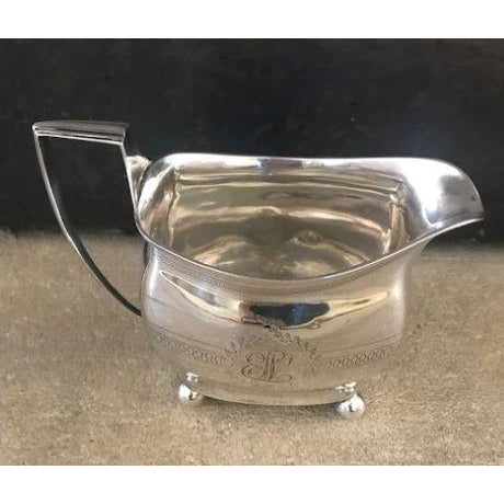 Metal 1885 Antique Stephen Adams English Sterling Silver Creamer For Sale - Image 7 of 7