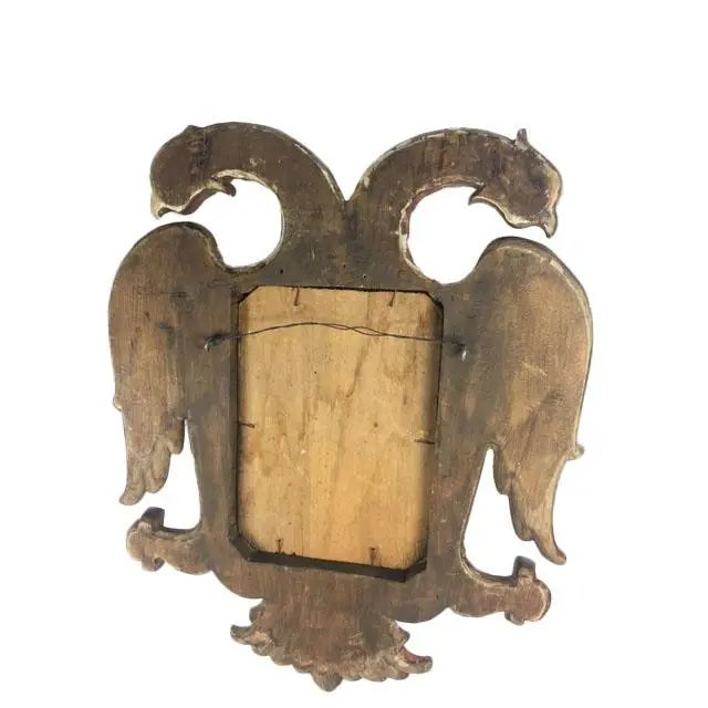 Late 19th Century Carved Giltwood Two-Headed-Eagle Wall Mirror For Sale In Dallas - Image 6 of 8